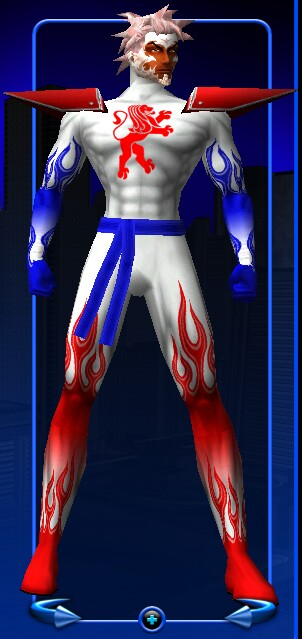 Icy Hot Man's new outfit.